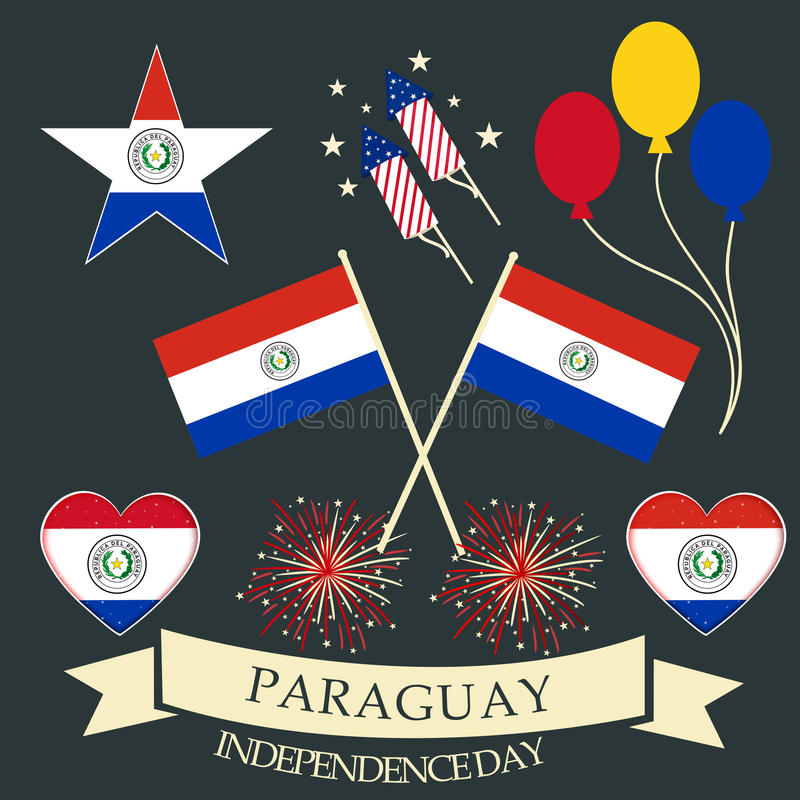 День независимости Парагвая иллюстрация штока