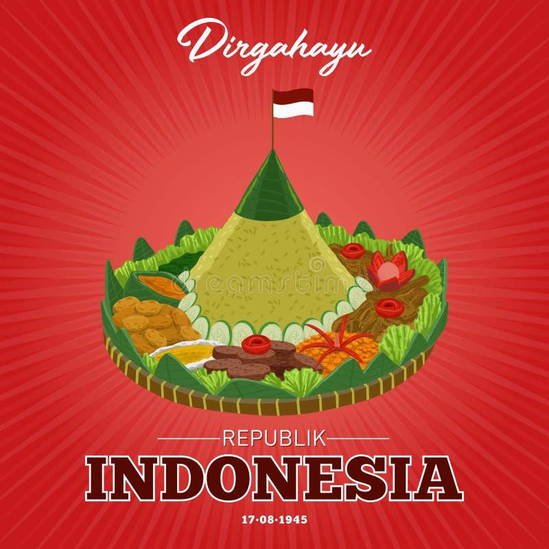 День независимости республики Индонезии 17-ого августа бесплатная иллюстрация