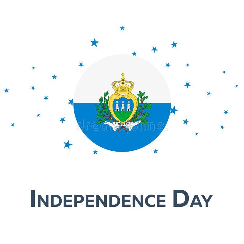 День независимости Сан-Марино знамя патриотическое также вектор иллюстрации притяжки corel бесплатная иллюстрация