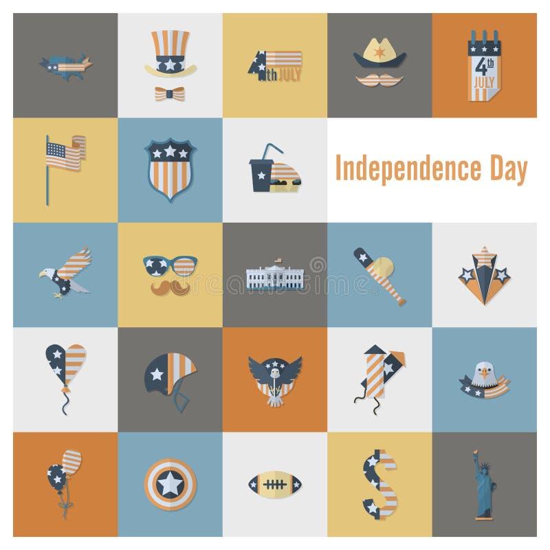 День независимости Соединенных Штатов бесплатная иллюстрация