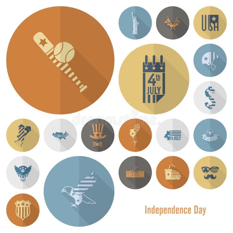 День независимости Соединенных Штатов иллюстрация штока
