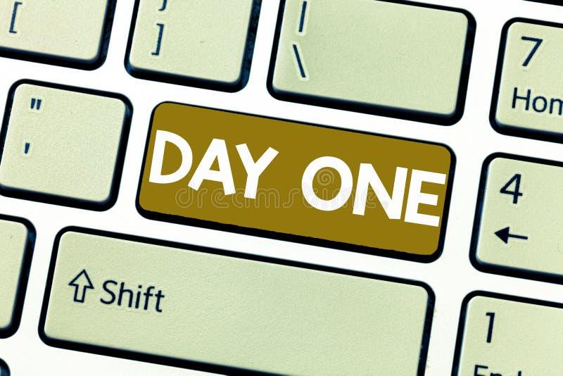 День одно текста сочинительства слова Концепция дела для начала первого шага момента старта события программы план-графика иллюстрация вектора