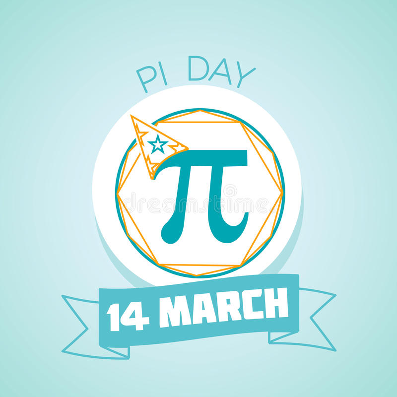 День 14-ое марта Pi иллюстрация вектора