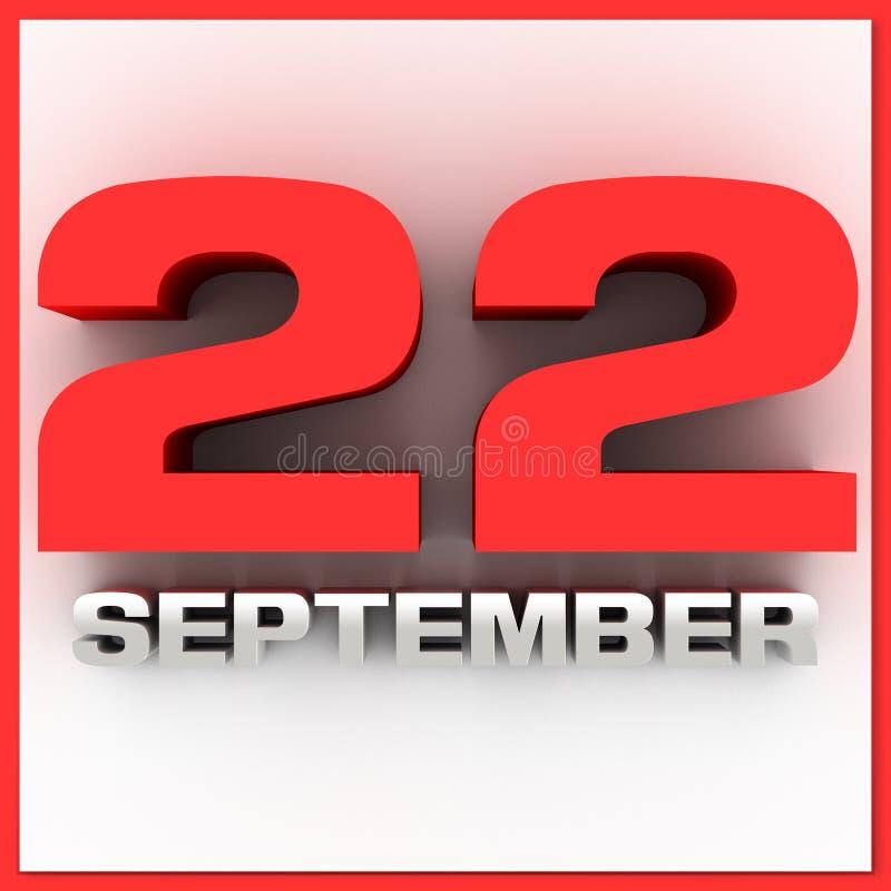 День 22-ое сентября первый падения бесплатная иллюстрация