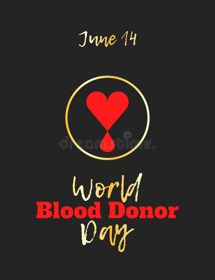 День донора мира иллюстрация вектора