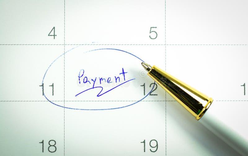 День оплаты стоковое изображение