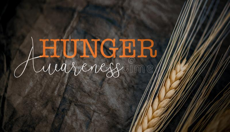 День осведомленности голода стоковое изображение