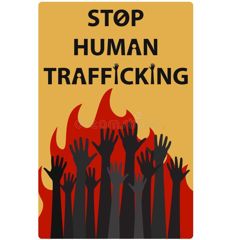 День 5 осведомленности торговли людьми иллюстрация вектора