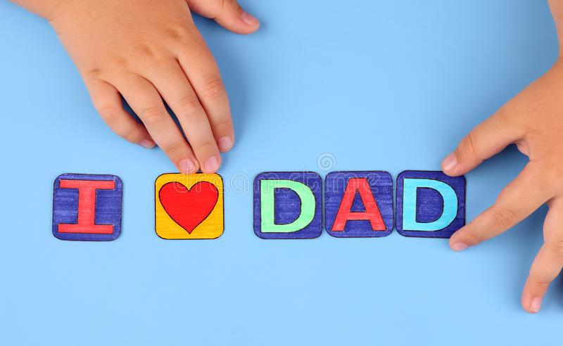 День отца (папа влюбленности I) стоковые изображения