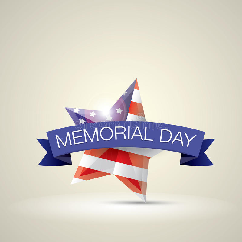 День памяти погибших в войнах с звездой в цветах национального флага иллюстрация вектора