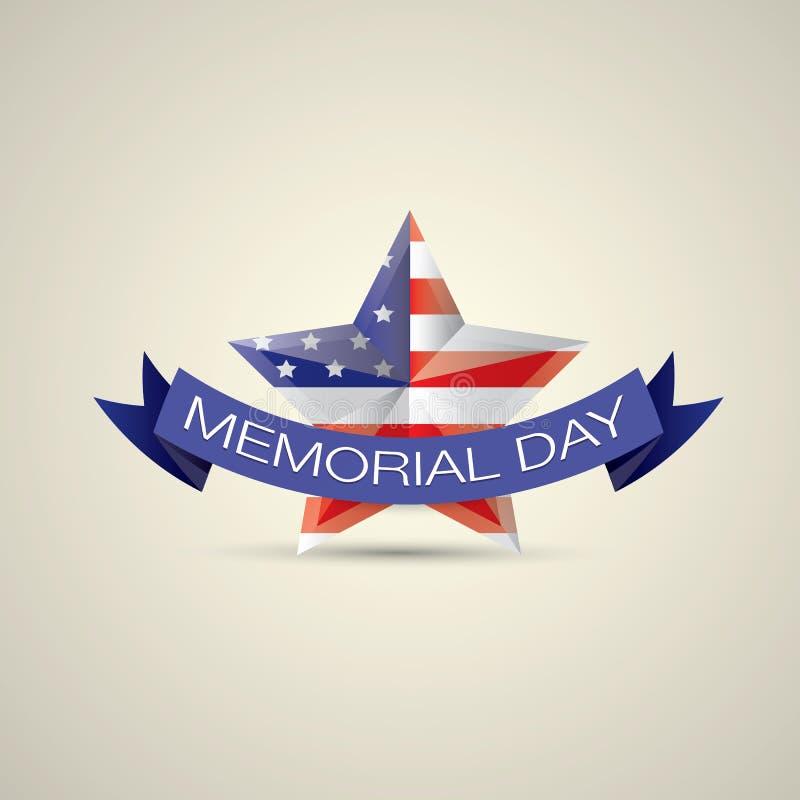 День памяти погибших в войнах с звездой в цветах национального флага бесплатная иллюстрация