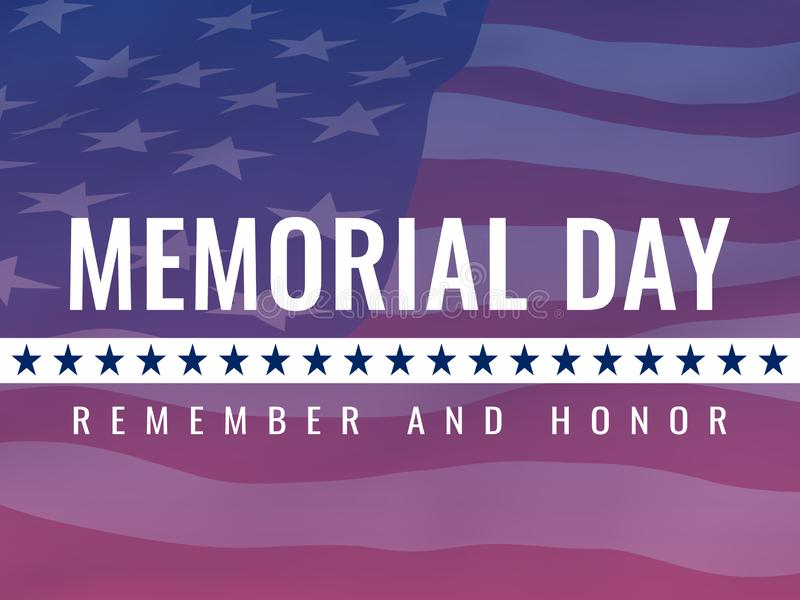 День памяти погибших в войнах, удостаивая всех которые служили плакат иллюстрация вектора