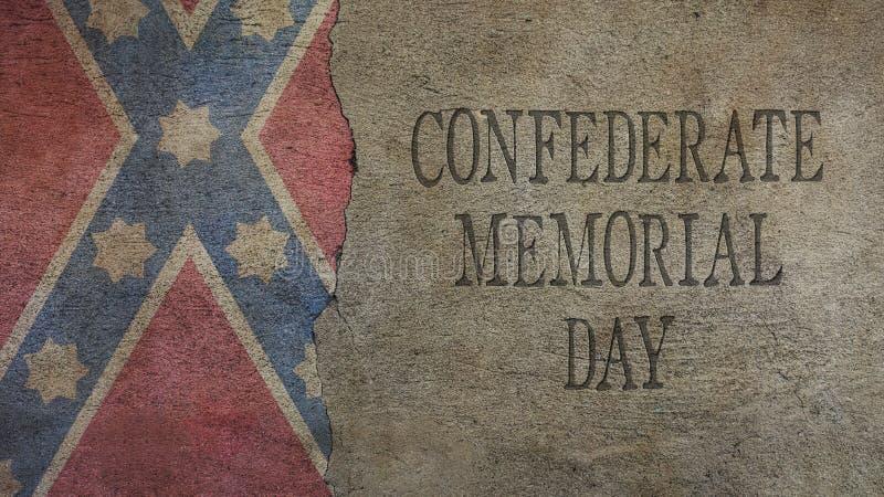 День памяти погибших в войнах Confederate Флаг и бетон бесплатная иллюстрация