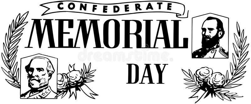 День памяти погибших в войнах Confederate иллюстрация вектора