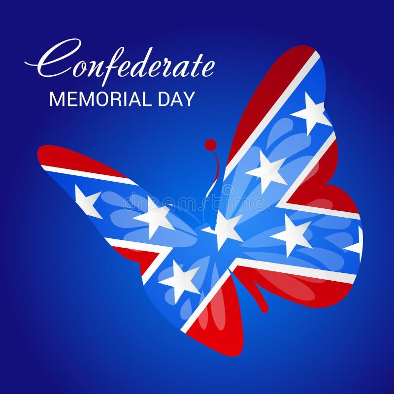 День памяти погибших в войнах Confederate иллюстрация штока