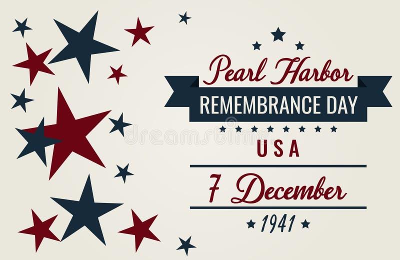 День памяти погибших в первую и вторую мировые войны Перл-Харбора иллюстрация штока