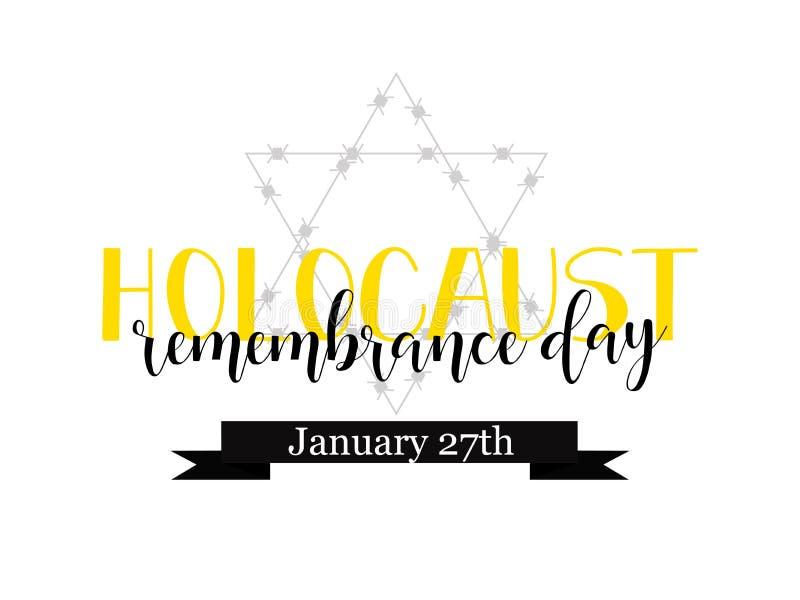День памяти погибших в первую и вторую мировые войны холокоста 27-ое января также вектор иллюстрации притяжки corel иллюстрация вектора