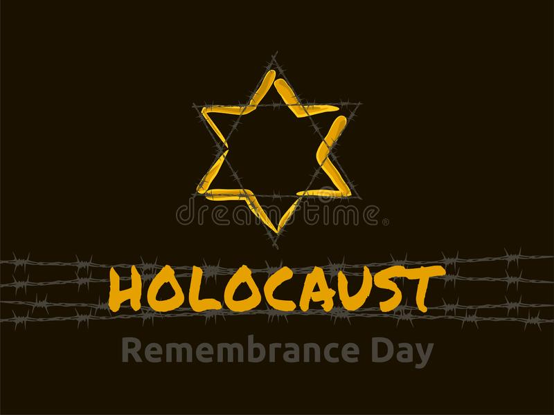 День памяти погибших в первую и вторую мировые войны холокоста, иллюстрация вектора иллюстрация вектора