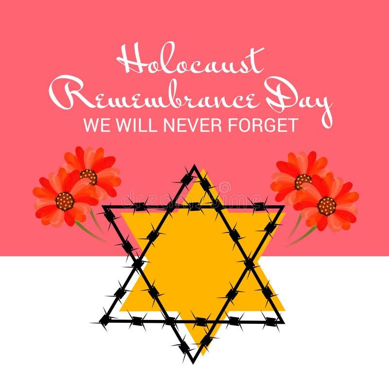День памяти погибших в первую и вторую мировые войны холокоста иллюстрация штока