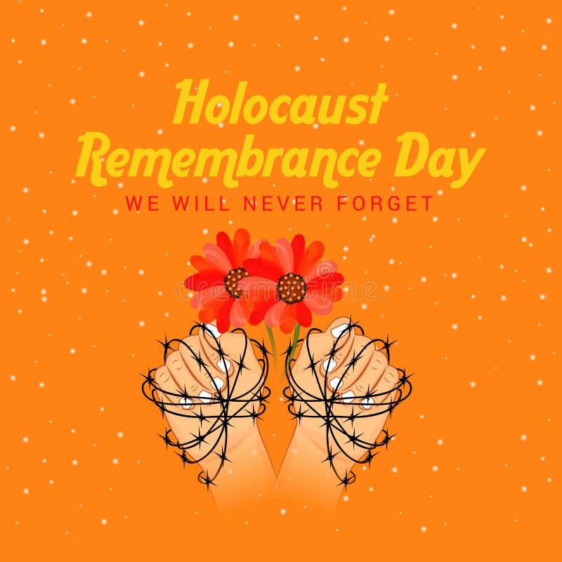 День памяти погибших в первую и вторую мировые войны холокоста бесплатная иллюстрация