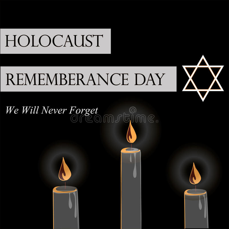 День памяти погибших в первую и вторую мировые войны холокоста иллюстрация вектора