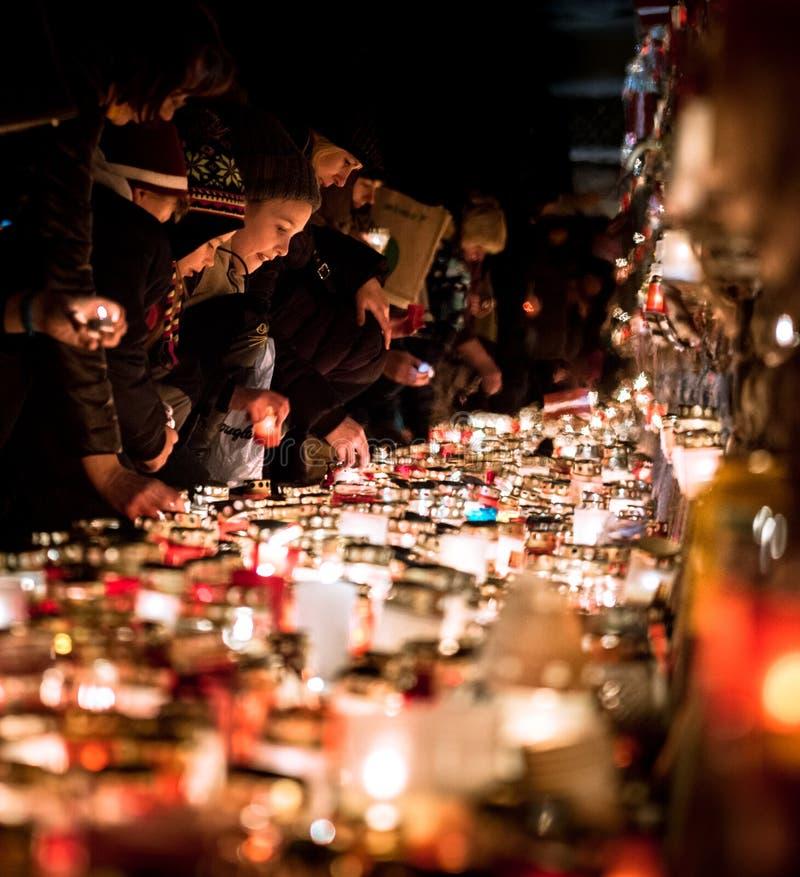 День памяти погибших в первую и вторую мировые войны для упаденных борцов за свободу стоковая фотография