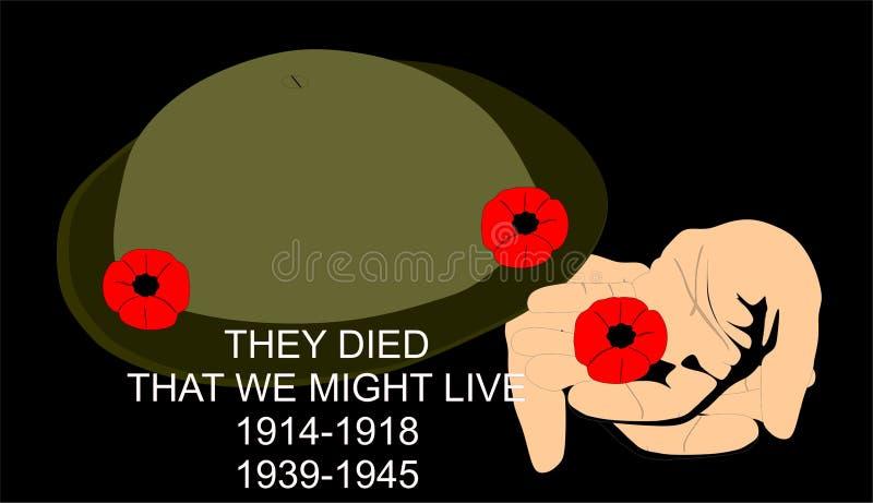 День памяти погибших в первую и вторую мировые войны иллюстрация штока