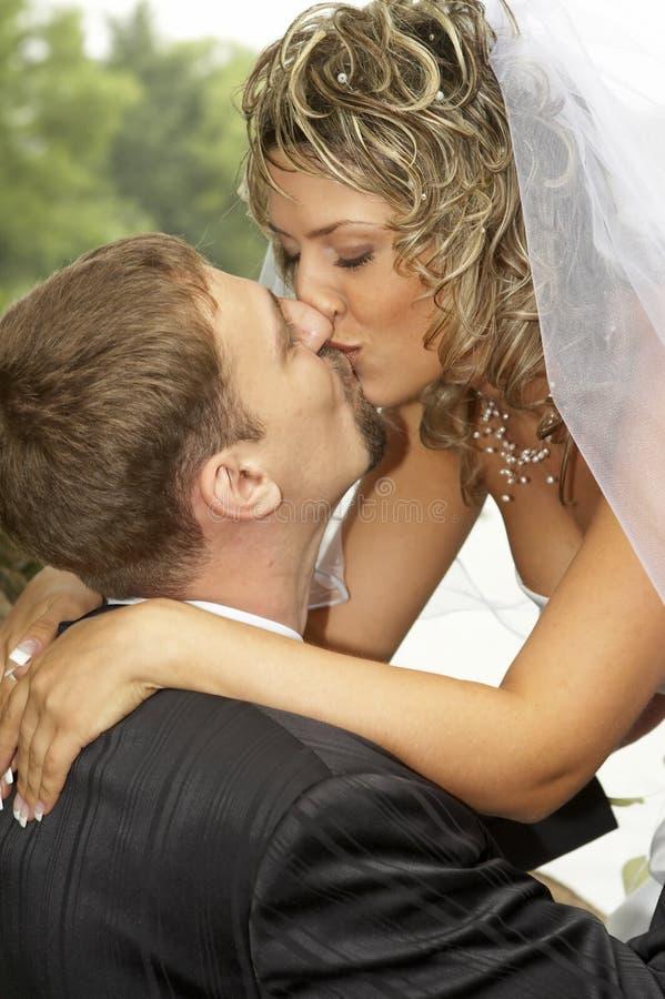 день пар их венчание стоковое изображение rf