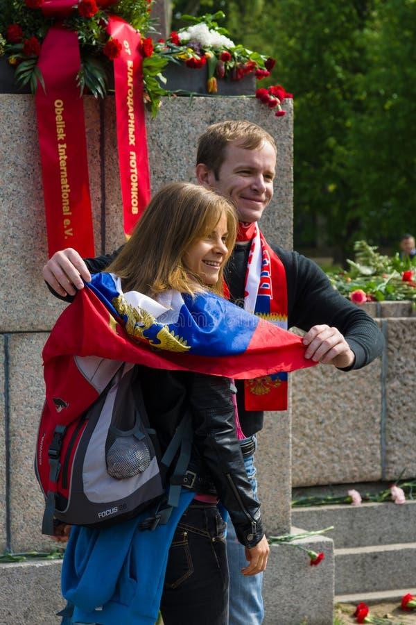 День ( победы; 9-ое мая ) в парке Treptower berlin Германия стоковая фотография