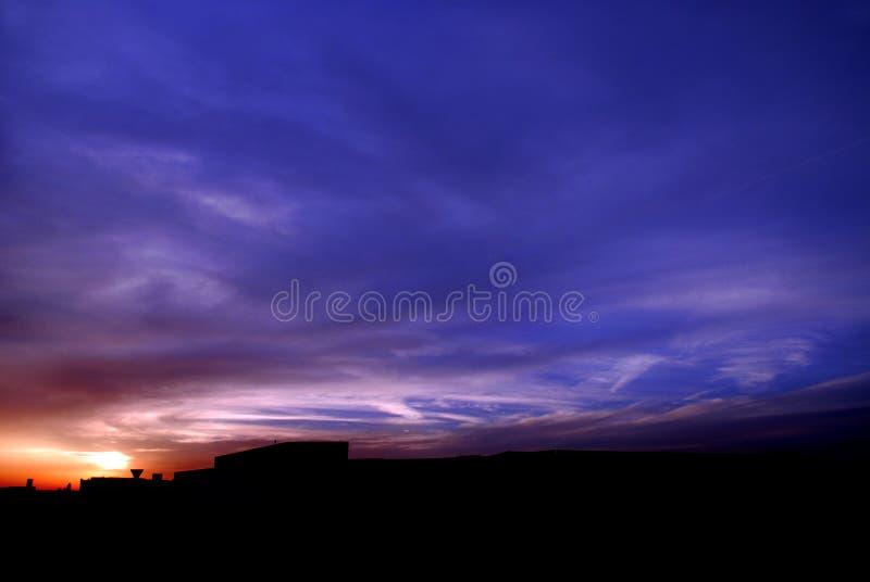 День прежде штормом солнца стоковые изображения rf