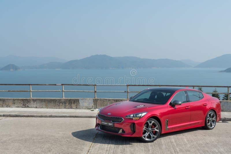 День привода теста GT 2018 жала Hyundai стоковое изображение