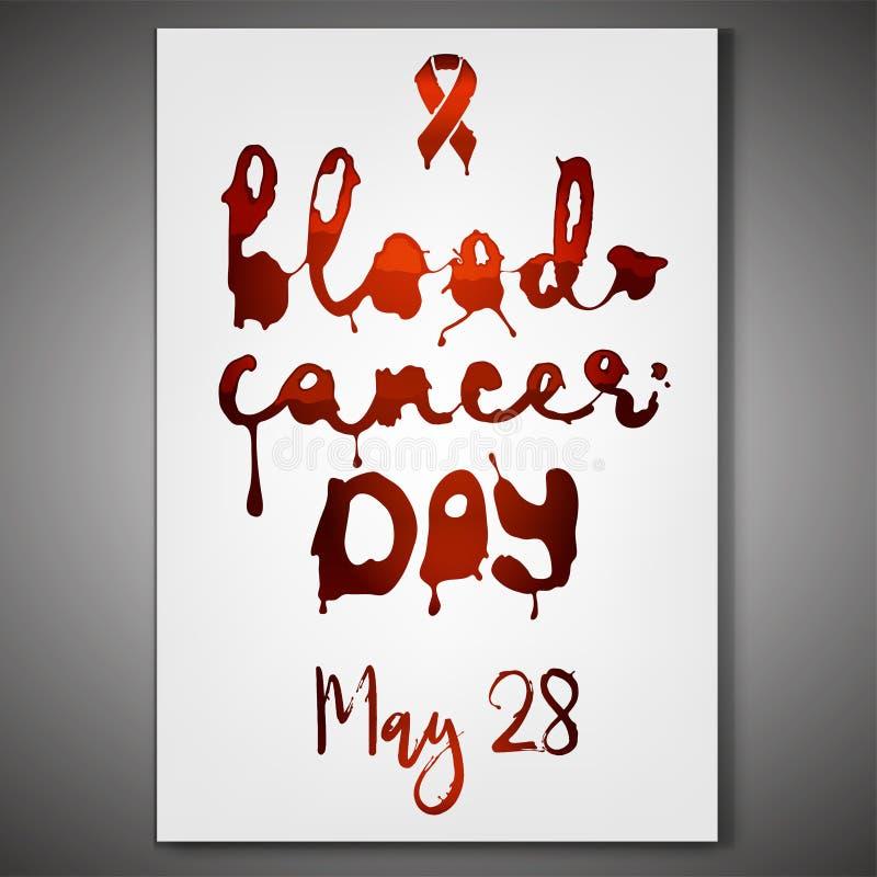 День рака крови иллюстрация штока