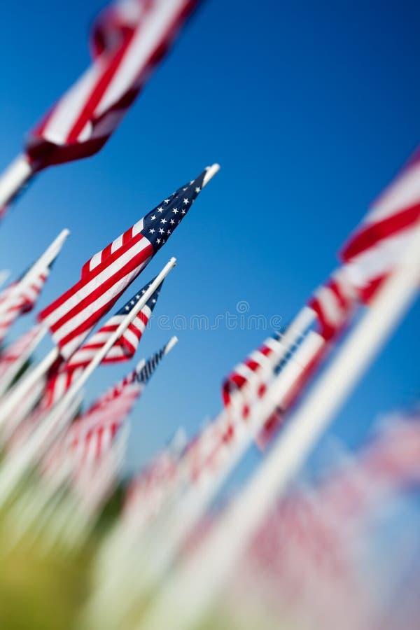 день расположения flags мемориальные США стоковые фотографии rf