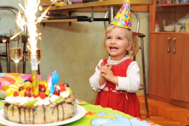День рождения девушки стоковое изображение