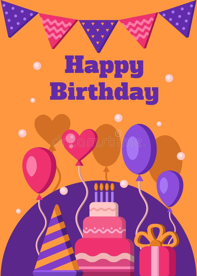 день рождения знамени счастливый иллюстрация вектора