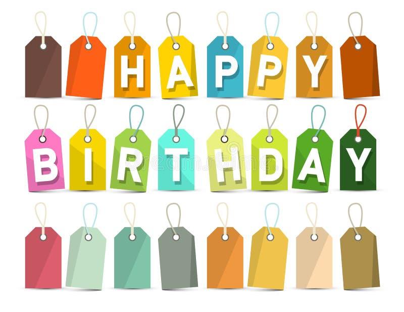 день рождения знамени счастливый бесплатная иллюстрация