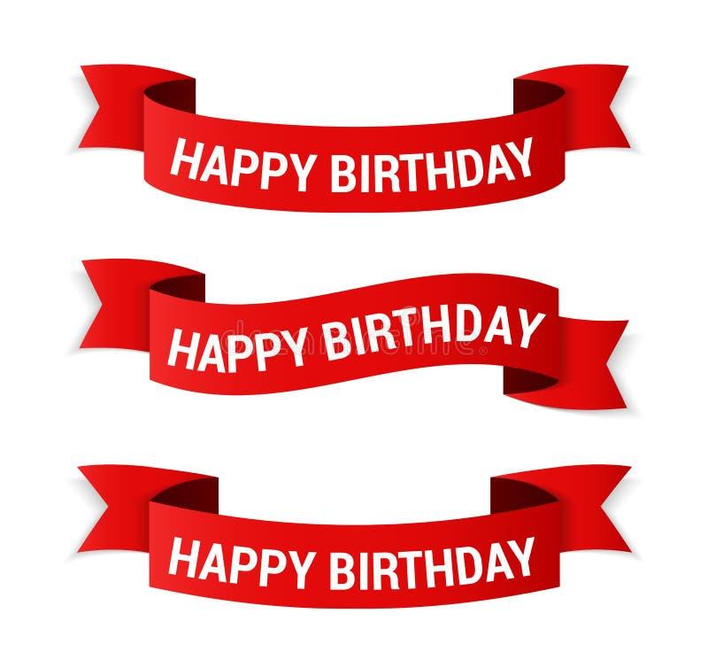 день рождения знамен счастливый бесплатная иллюстрация
