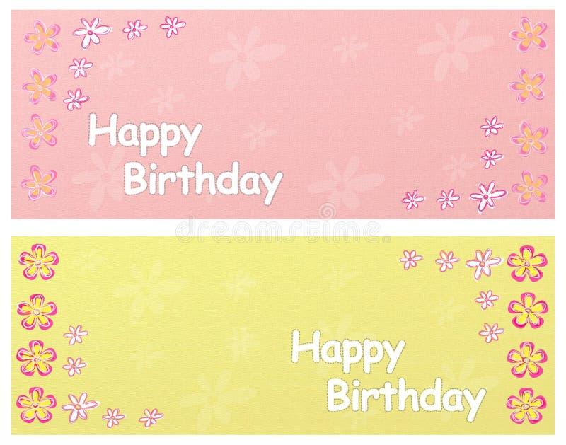 день рождения знамен счастливый иллюстрация вектора
