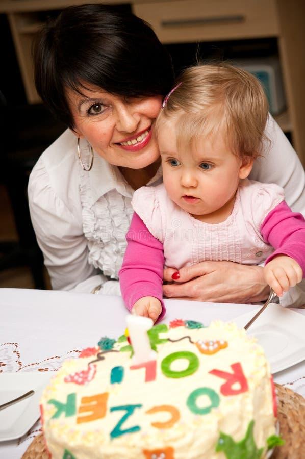 день рождения первый s младенца стоковое изображение rf