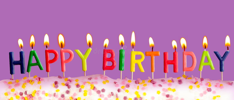 день рождения предпосылки миражирует счастливый освещенный пурпур стоковые изображения