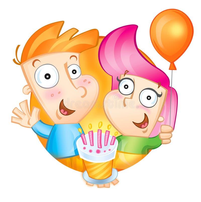 день рождения счастливый к вам иллюстрация вектора