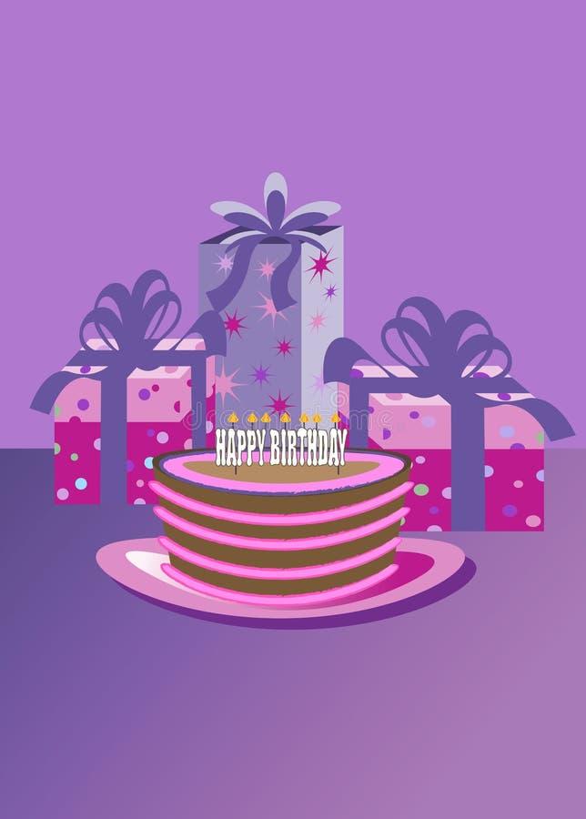день рождения счастливый бесплатная иллюстрация