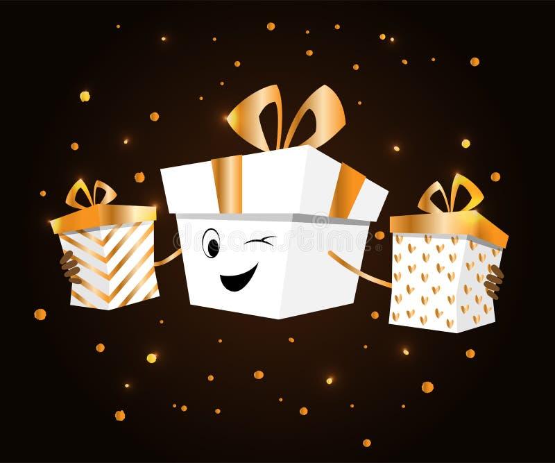 День рождественских подарков иллюстрация вектора