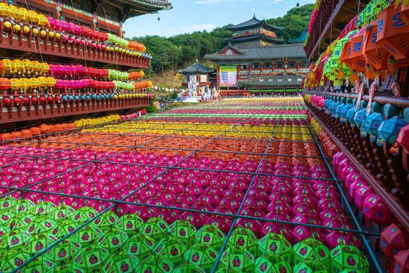 День рождения Будды на Samgwangsa стоковое изображение rf