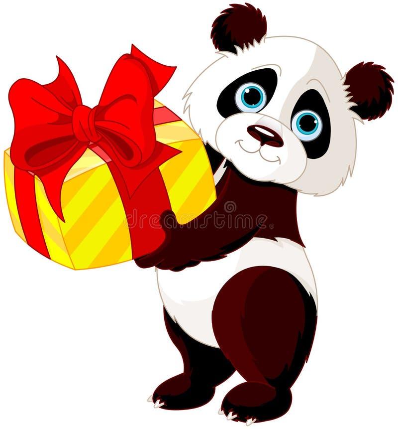 День рождения Panda's иллюстрация вектора