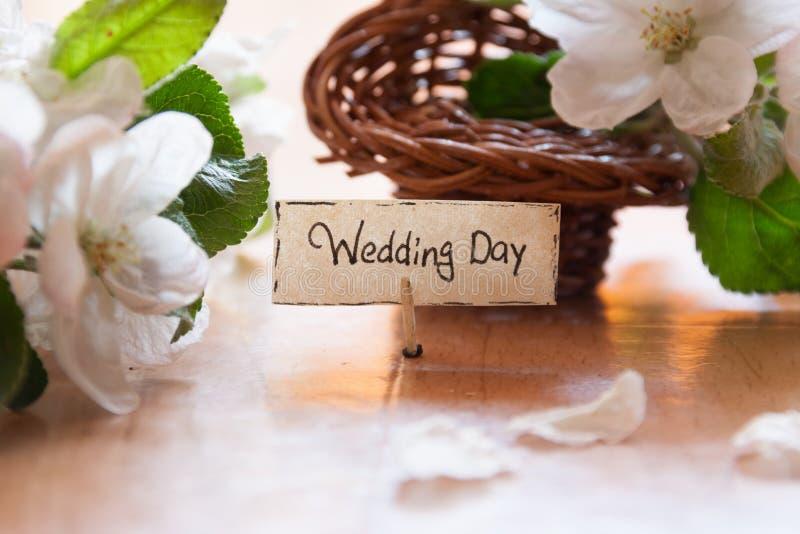 День свадьбы стоковая фотография