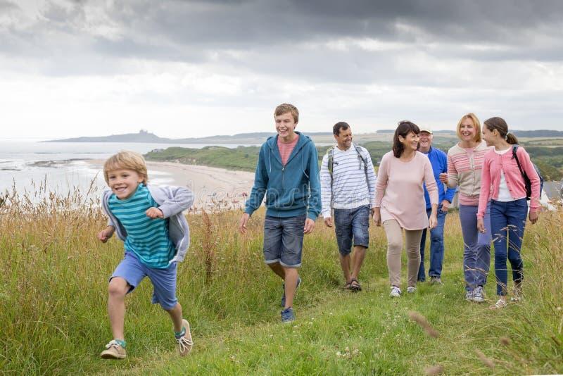 День семьи на пляже стоковое фото rf