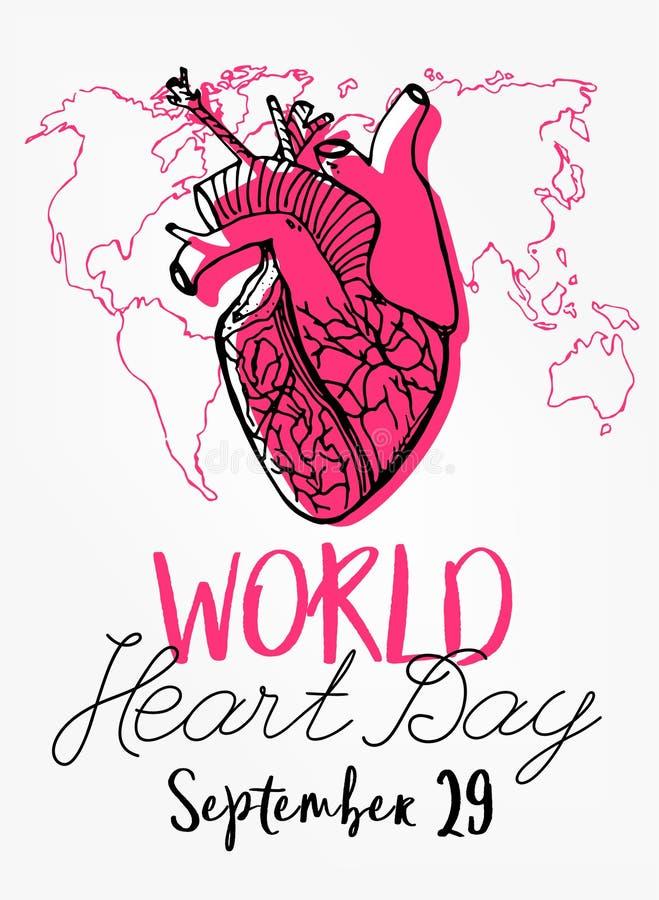 День сердца мира иллюстрация вектора