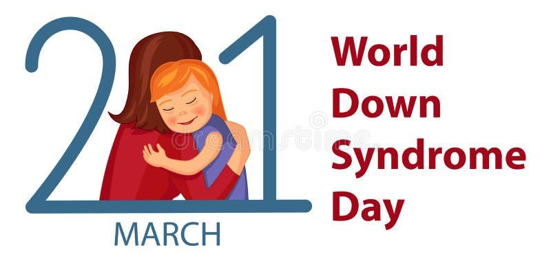 День Синдрома Дауна мира иллюстрация штока