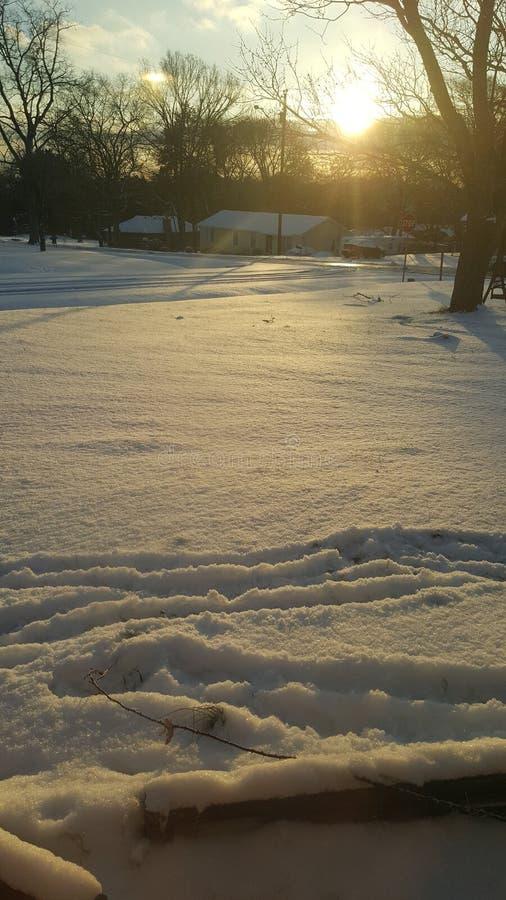 День снега стоковое изображение rf